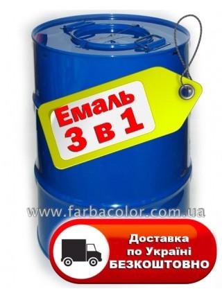 Грунт-эмаль 3 в 1 по ржавчине 50кг